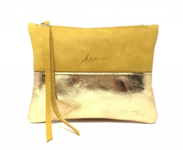 "Clutch ""SAFRAN/GOLD"""