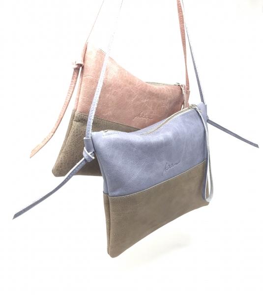 33703d4c33e0e shop.kaa-berlin.de - Kleine Umhängetasche Ledertasche Damen rosa grau